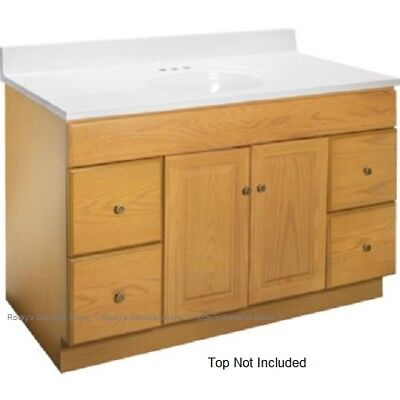 (Bathroom Vanity Cabinet Oak 48 inches Wide x 21 inches Deep New *Fast Delivery*)