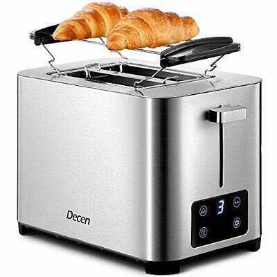 Grille Pain Decen 7 Niveaux de Brunissage, Affichage LCD, 2 Large Fente Toaster