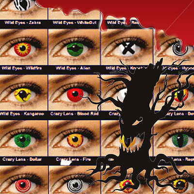 Crazy Coloured Contact Lenses HALLOWEEN color contact lens color ONE PAIR