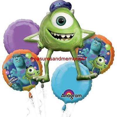 Anagram MONSTERS UNIVERSITY HAPPY BIRTHDAY BALLOON BOUQUET 5 Balloons Sully Mike