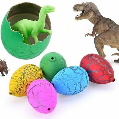 6pc Magic Hatching Dinosaur Add Water Growing Dino Eggs Inflatable Toys For Kids