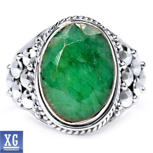 sterling silver emerald ring ebay