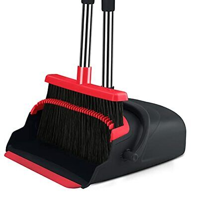 Broom and Dustpan set Large Size Dust pan and Stiff with 55.9 inch Long Handl...