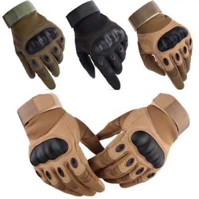 Carbon Fiber Motorcycle Racing Hard Knuckle Gloves Mens Motorbike Riding Cruiser ()