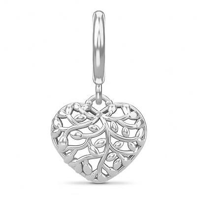 (Endless Jewelry Collection Charm Twisted Heart Love 43443 Silver - New Free Ship)