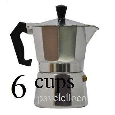 Stove Top Espresso Cuban Coffee Maker pot Cappuccino Latte 6 Cup Cafetera Cubana