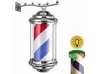 New & Boxed Mini Barber pole light shop sign for the Barbershop