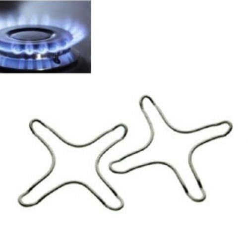 2PC GAS SAFETY STARS STOVES IRON MATERIAL WITH CHROME PLATED NEW