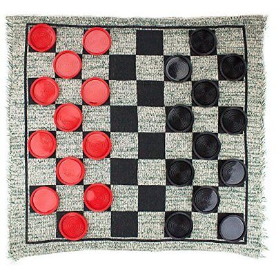 Jumbo Checkers Rug (Giant 3-in-1 Checkers Rug & Mega Tic Tac)