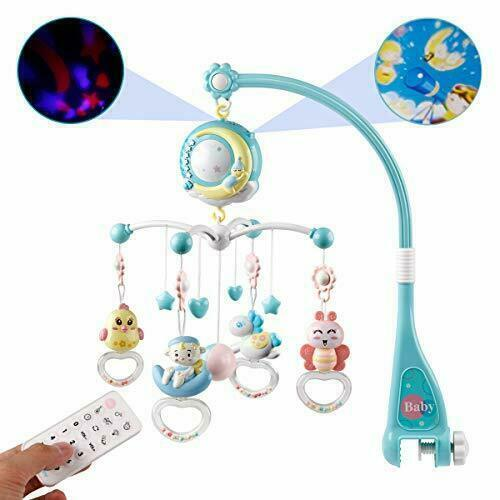 Rattle Toy Mobile Baby Cot Musical Light Bed Bell Kid Crib Hanging Birthday Gift