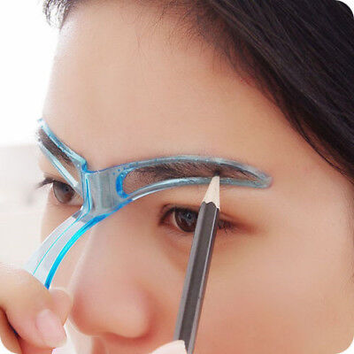 Eyebrow Stencil Shaping Grooming Assistant Brow Make Up Template Shaper Reusable