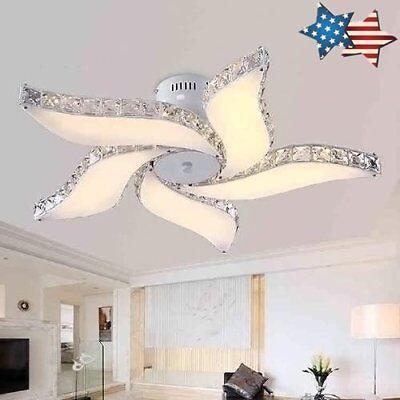 Elegant Crystal Chandelier Modern 5 Ceiling Light Lamp Pendant Fixture - Elegance Ceiling Light