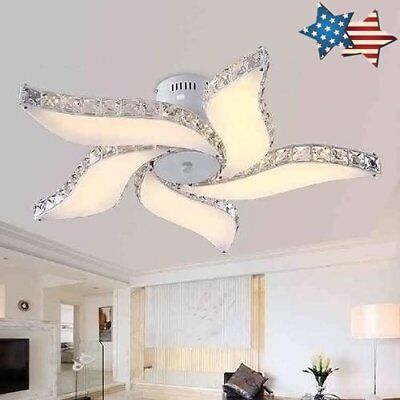 Modern flower LED Crystal Ceiling Light Living Room Bedroom