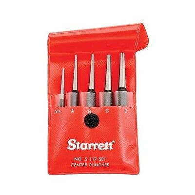 STARRETT 5PC CENTER PUNCH SET IN CASE #S117PC