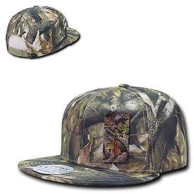 (Camouflage Flat Bill Cotton Camo Hybricam Mossy Snapback Baseball Oak Cap Hat)