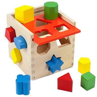 Shape Sorting Cube (Smart Shapes Wooden Sorting Cube | Developmental Fine Motor Skills)
