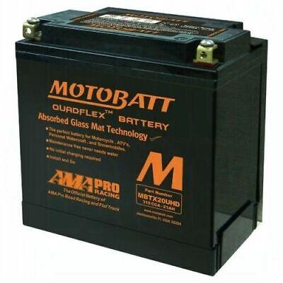 Harley Davidson Battery Agm Gel Motobatt MBTX20UHD Motorcycle Battery
