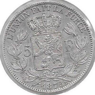 5 Francs argent Léopold II 1875