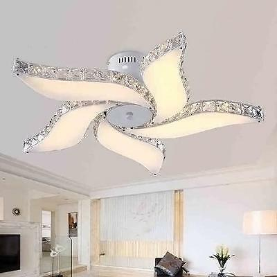 Modern Crystal Flower Chandelier  LED Pendant Lamp Lighting Ceiling Fixture NEW