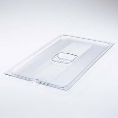 Rubbermaid 1/6 Size Cold Food Pan Handled Cover w/Peg Hole, Clear (FG108P23CLR)