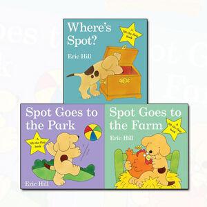 Eric Hill Collection Spot - Original Lift The Flap 3 Books Set Where's Spot? NEW