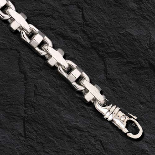 925  Sterling Silver Anchor Mariner Chain Necklace 7.9 Mm 90 Gram  22