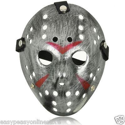 Adult Jason Voorhees Style Hacker Horror Hockey Face Masks Halloween Friday 13th (Jason Voorhees Face Mask)