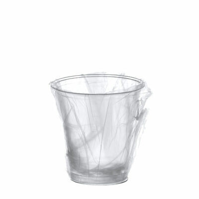 600 Trinkbecher klar PS Einzeln Gehüllt 0,2 l Ø 7,3 cm 9,5cm Party Einwegbecher ()