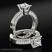 4 Carat Princess Cut Diamond Ring