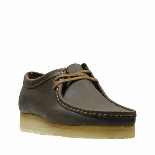 Men's Shoes Clarks Originals WALLABEE Leather Moccasins 34200 BEESWAX *New*