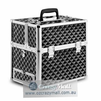 Lockable Mirrored Portable Cosmetic Make Up Case