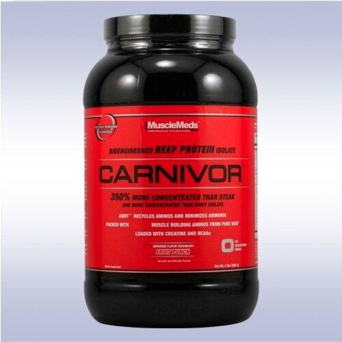 MUSCLEMEDS CARNIVOR (2 LB) beef protein isolate powder bcaa shots shred mass