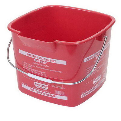 Steri Pail (Steri Pail Square Sanitizing Bucket Red 8 qt. 9.5