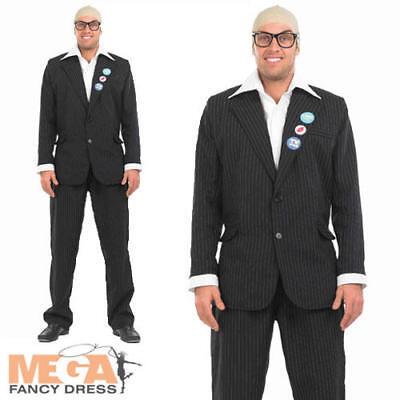 Harry Hill Mens Fancy Dress TV Comedian Burps Adults Celebrity Costume Outfit - Harry Hill Kostüm