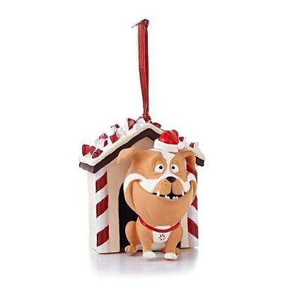 Peppermint Bark - 2013 Hallmark Ornament - Santa Claus Hat Dog House Candy Cane