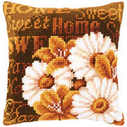 "Home Sweet Home  Vervaco Chunky Cross Stitch Cushion Kit 16x16"" - 40"" X 40"""
