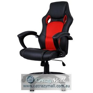 Deluxe PU Leather Computer Office Chair Black Red or White Melbourne CBD Melbourne City Preview