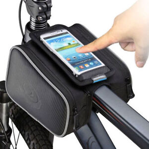 Bicycle Cycling Bike Frame Pannier Front Tube Bag Accessories Mobile Phone Pouch