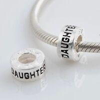 Figlia - Hija - Fille Perline Europee Ciondolo - Argento Massiccio Sterling 925 -  - ebay.it