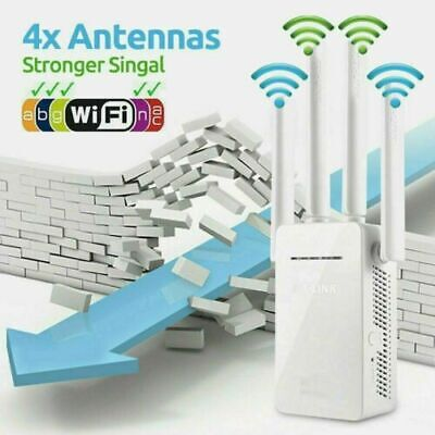 AC1200 WiFi Repeater Wireless 300m Extender Router Dual Booster Band Gigabit US