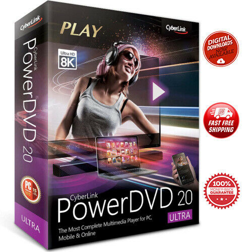 Powerdvd ULTRA Cyberlink 20 ⭐️ PRE-ACTIVATED (Lifetime) 🔥 FAST SHIPPING ✅