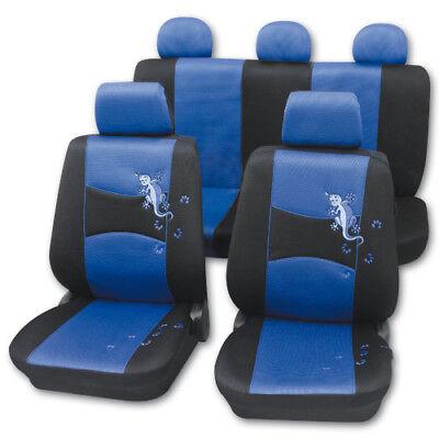 Sitzbezüge blau hinten KOS PEUGEOT 205