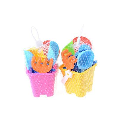 Sand Water Beach Play Toys Set 7x Kids Seaside Bucket Shovel Rake Kit Newest HL