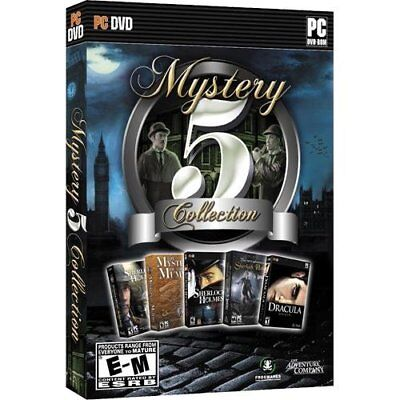 Computer Games - Mystery 5 Pack Collection PC Games Windows 10 8 7 XP Computer click adventure