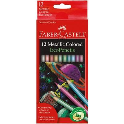 Metallic Colored EcoPencils SCHOOL SUPPLIES Faber Castell 12 Pencil Colors