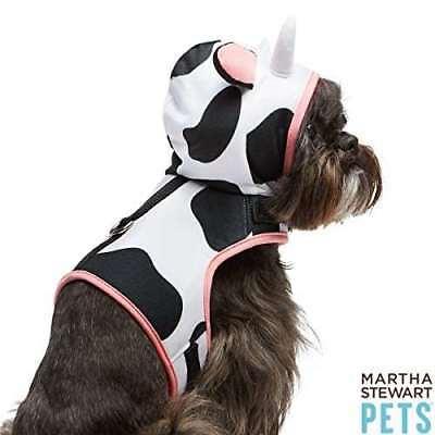 Martha Stewart Pets Cow Costume Vest Harness X-Small Halloween Dog](Dog Halloween Cow Costume)