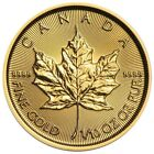 Canadian Maple Leaf 1/10 oz .9999 Gold Bullion Coins