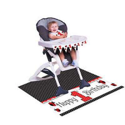 High Chair Banner (LADY BUG FANCY HIGH CHAIR DECORATING KIT ~ Birthday Party Supplies Banner)