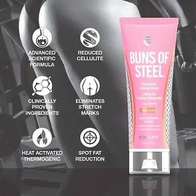 Steelfit Buns of Steel Topical Toning Cream Tone Tighten Hips Thighs 8oz