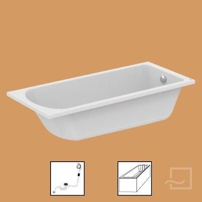 Ideal Standard Badewanne mit Wannenträger und Ablauf HOTLINE NEW 180 x 80 cm